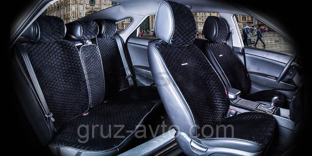 Накидки на сидіння CarFashion Модель: CITY PLUS Чорний - чорний (22471)