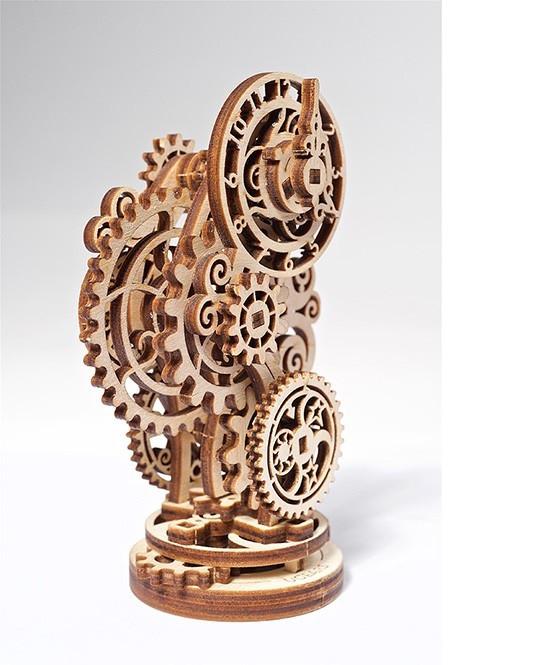 Стимпанк-часики | UGEARS | Механический 3D конструктор из дерева
