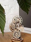 Стимпанк-часики | UGEARS | Механический 3D конструктор из дерева, фото 4