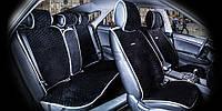 Накидки на сидения CarFashion Мoдель: CITY PLUS Черный- серый (22472), фото 1
