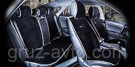 Накидки на сидения CarFashion Мoдель: CITY PLUS Черный- серый (22472)