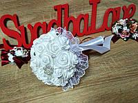 Свадебный букет-дублер для невесты Stilю Цвет марсала с белым.