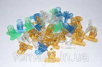 Зажим пластмассовый маленький ( 1 шт)