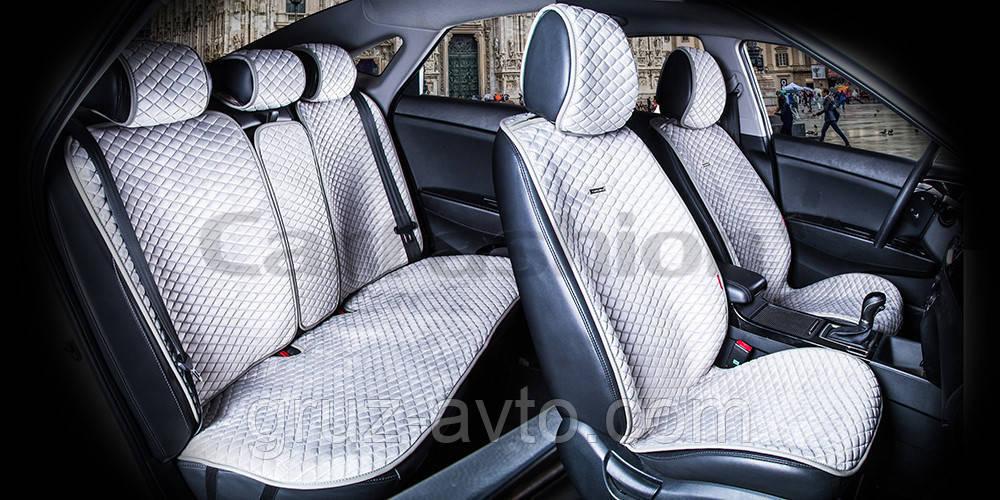 Накидки на сидіння CarFashion Модель: CITY PLUS Сірий - сірий (22477)
