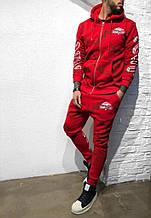 Мужской спортивный костюмна флисе Black Island (красный) - Турция