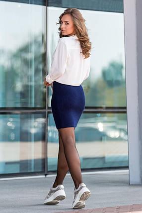 Вязаная юбка «Миледи» мини (синий), фото 2