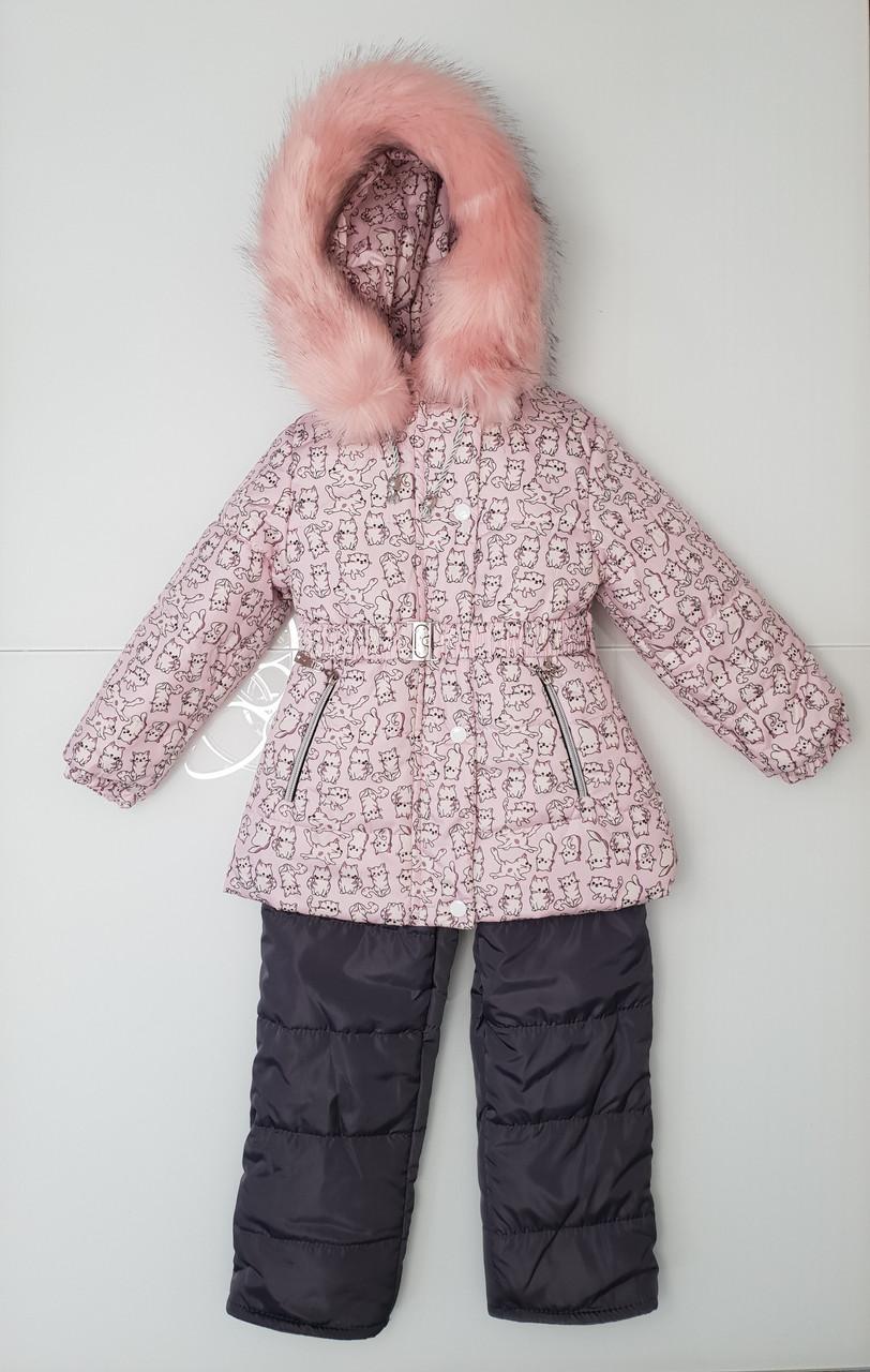 Зимний костюм для девочки 104р
