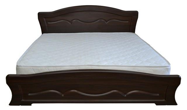 Ліжко двоспальне з ДСП/МДФ в спальню Віолетта 160х200 Неман