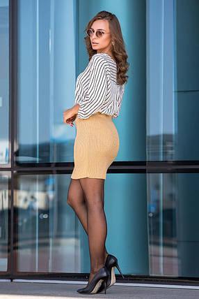 Вязаная юбка «Миледи» мини (светлый янтарь), фото 2