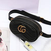 Женская сумка  на пояс gu*ci ТОП реплика пресс кожа, фото 1