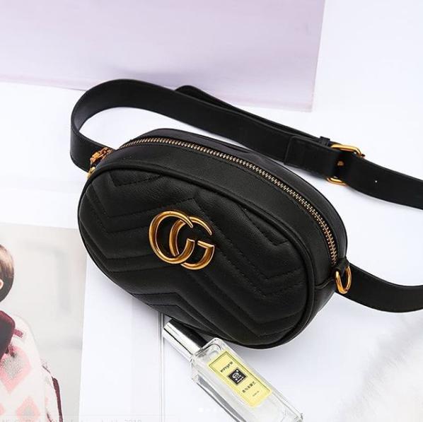 Женская сумка  на пояс gu*ci ТОП реплика пресс кожа