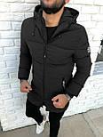 😜 Куртка - Мужскаяя куртка зима черного цвета удлиненная, фото 2