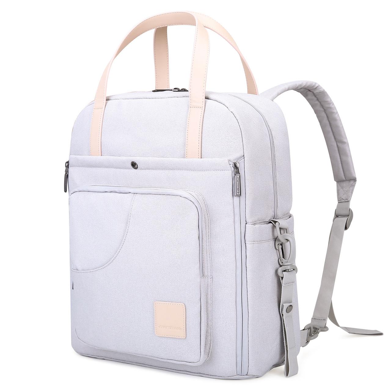 Сумка-рюкзак  для мам многофункиональная светло-серая  Mommore, фото 1