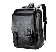 Городской мужской рюкзак Черный. Рюкзак для ноутбука POLO, фото 1