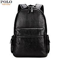 Городской мужской рюкзак Черный, коричневый, фото 1