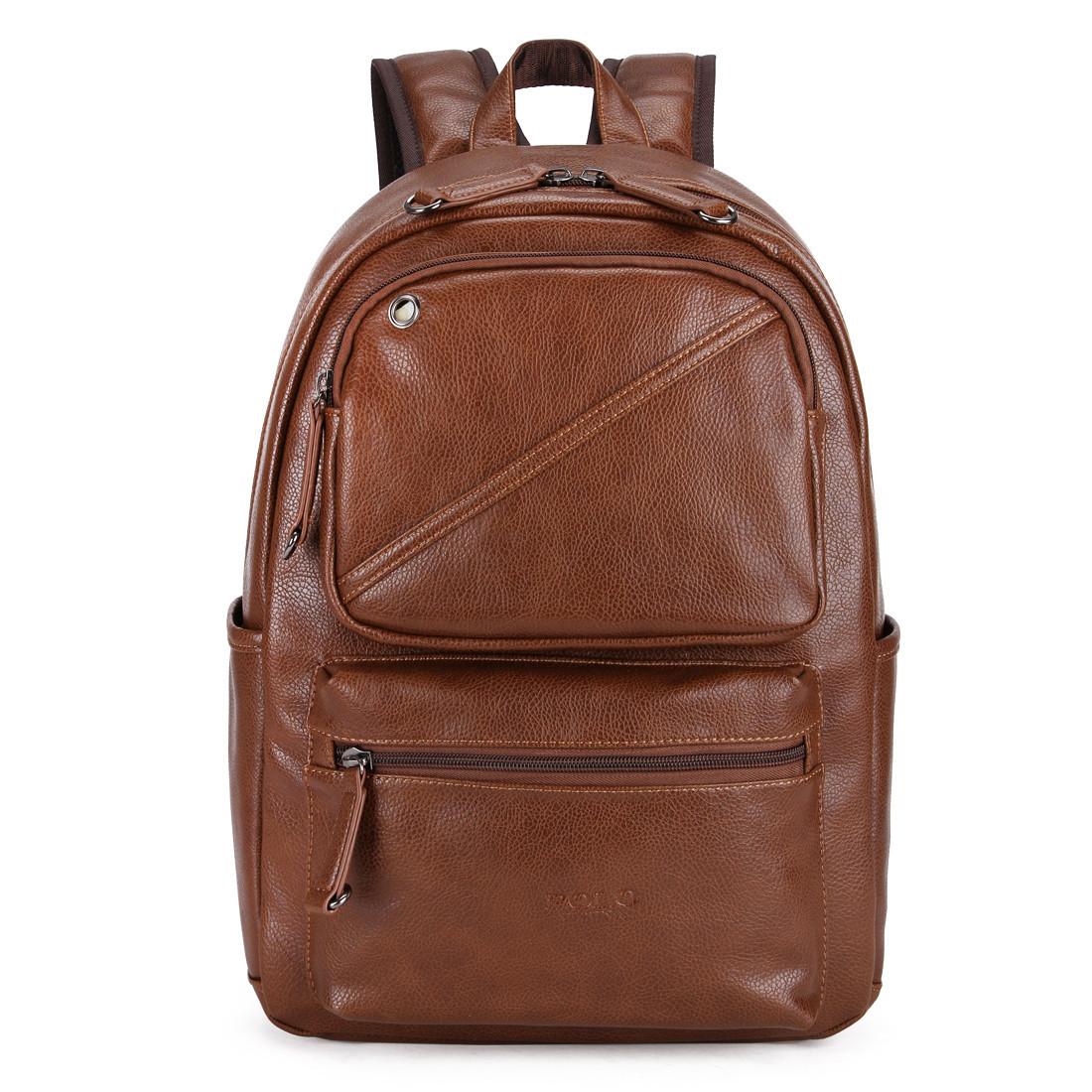 Городской мужской рюкзак  Черный, коричневый.РЮКЗАК ДЛЯ НОУТБУКА