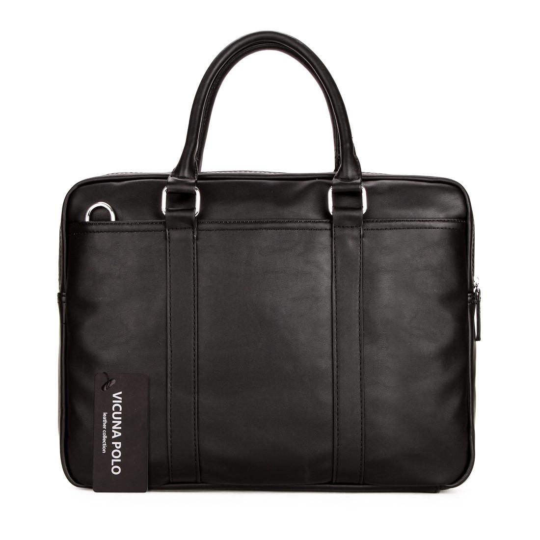 Повседневная деловая мужская сумка-портфель Черный, коричневый, фото 1