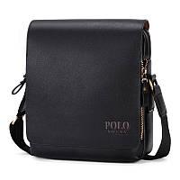 Повседневная деловая мужская сумка Черный, коричневый, фото 1