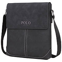 Мужская сумка Polo Vicuna черная, фото 1