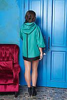 """Куртка """"М-301"""" (плащевка-бирюза) (размер 56)"""