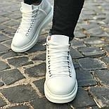 Ботинки - мужские ботинки на шнурках белого цвета, фото 2