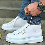 Ботинки - мужские ботинки на шнурках белого цвета, фото 3