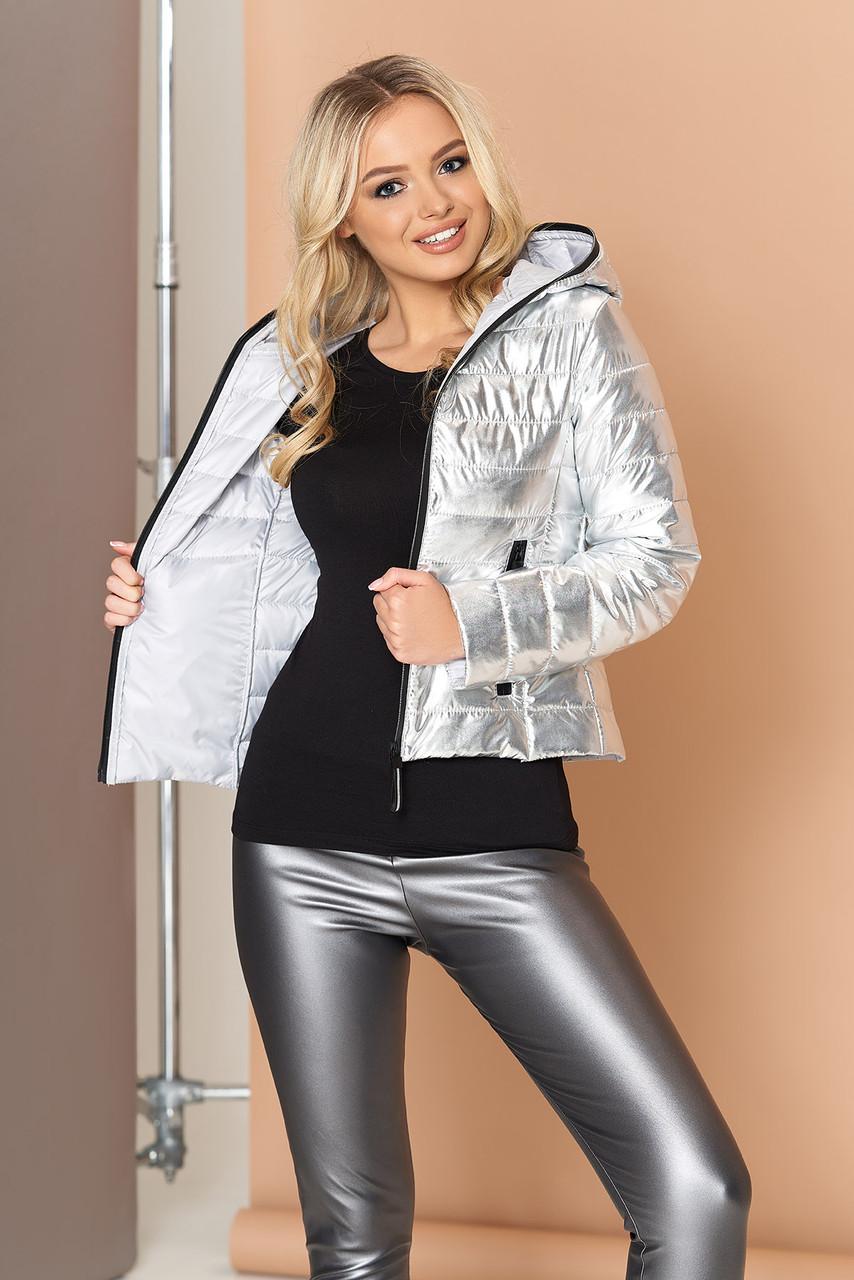 """Куртка """"Сенди"""" (серебро) (размер XS)"""