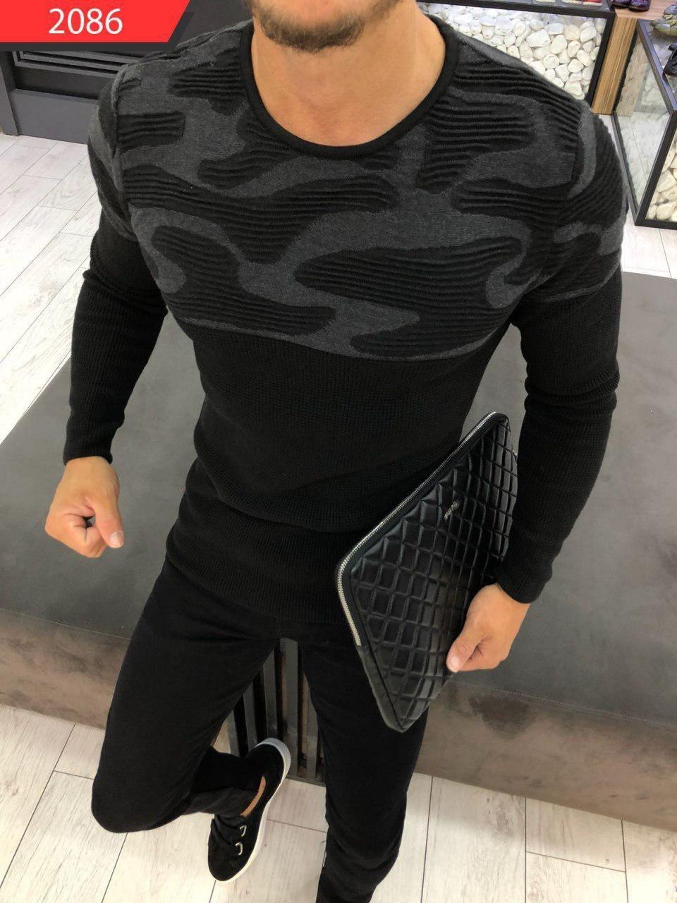 😜 Светр Чоловічий чорний светр на осінь
