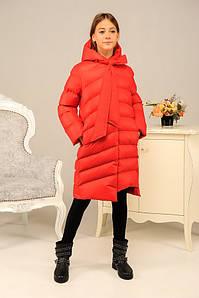 Куртка зимняя Даяна для девочки утеплитель Air-пух красная