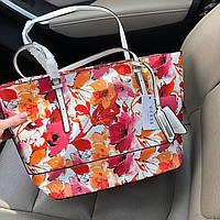 Сумка -шоппер копия Guess в цветочный принт, фото 1