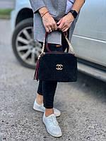 Сумка женская кросс-боди,Натуральная замша и кожзам