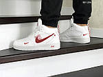 Мужские кроссовки Nike Air Force 1 LV8 High (бело/красные) ЗИМА, фото 5