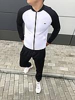 Спортивный костюм Lacoste (Premium-class) черный/белый