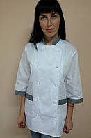 Костюм Классика для повара на пуклях рубашечная ткань три четверти рукав