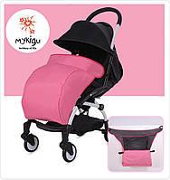 Чехол на ножки для детской коляски розовый