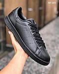 Мужские кроссовки Adidas Stan Smith (черные), фото 2