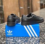 Мужские кроссовки Adidas Stan Smith (черные), фото 5