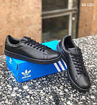 Мужские кроссовки Adidas Stan Smith (черные), фото 8