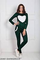 Зручний і стильний молодіжний спортивний костюм з принтом серце Williams