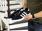 Чоловічі кросівки Adidas Gazelle (синьо-білі), фото 2