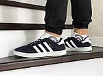 Чоловічі кросівки Adidas Gazelle (синьо-білі), фото 3