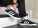 Чоловічі кросівки Adidas Gazelle (синьо-білі), фото 5