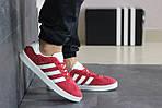 Мужские кроссовки Adidas Gazelle (красные), фото 2