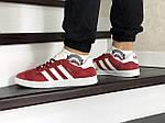 Чоловічі кросівки Adidas Gazelle (червоні), фото 4