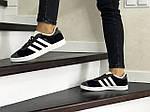 Женские кроссовки Adidas Gazelle (серо-черные), фото 2