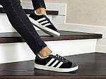Женские кроссовки Adidas Gazelle (серо-черные), фото 3