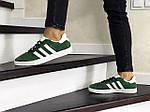 Женские кроссовки Adidas Gazelle (зеленые), фото 3