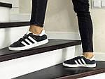 Жіночі кросівки Adidas Gazelle (сіро-білі), фото 2