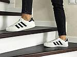 Жіночі кросівки Adidas Gazelle (білі), фото 3