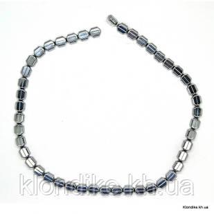 Бусины Гематит Натуральный, на нити, 9×7×4 мм, Цвет: Серебро